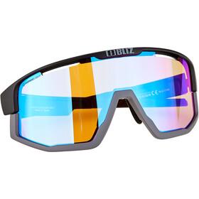 Bliz Fusion Nano Optics Glasses matte black/matte grey/coral with blue multi nordic light